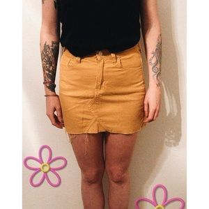 Dresses & Skirts - Yellow corduroy skirt